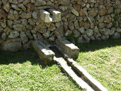 The original stone watering system